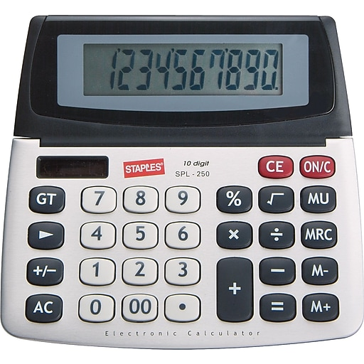 Staples SPL-250 10-Digit Display Calculator