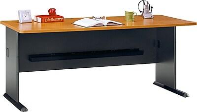 Bush Business Cubix 72W Desk, Natural Cherry/Slate, Installed