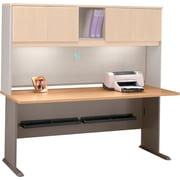 Bush Business Cubix 72W Desk, Danish Oak/Sage, Installed