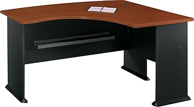 Bush Business Cubix 60W x44D Right Hand L-Bow Desk, Hansen Cherry/Galaxy