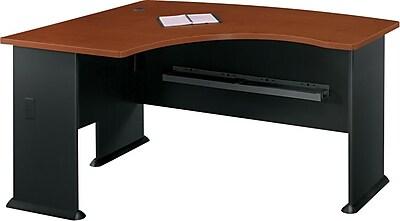 Bush Business Cubix 60W x 44D Left Hand L-Bow Desk, Hansen Cherry/Galaxy