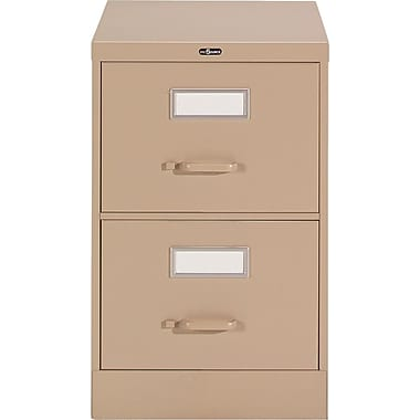 Staples® Vertical Legal File Cabinet, 2-Drawer, Sand