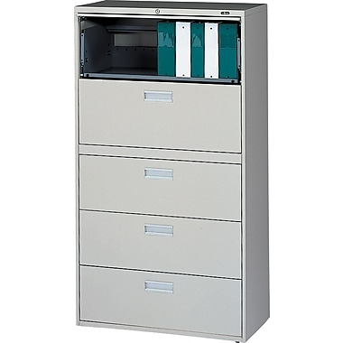 Bon Staples® Lateral File Cabinets, 5 Drawer