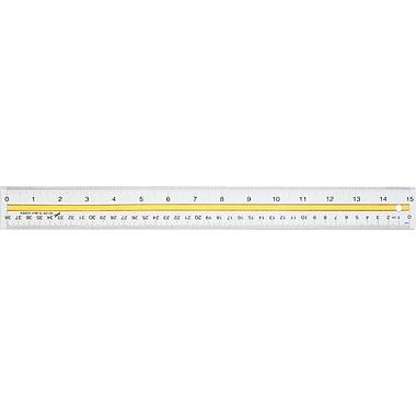 Staples® - Règle en acrylique pour lecture, 15 po/38 cm