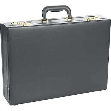 Bugatti Luggage Expandable Vinyl Attaché, Black