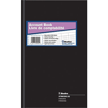 Blueline® A790 Account Book, A790200-03, 3 Columns