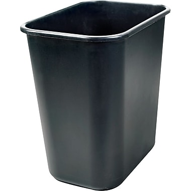 Staples® Wastebasket, Black