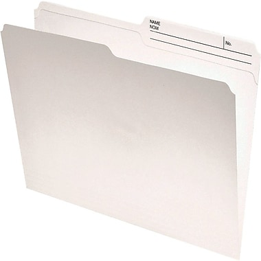 Staples® Recycled Reinforced Double-Top File Folder, Letter Size, Ivory
