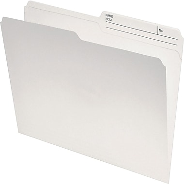Staples® Recycled Reinforced Double-Top File Folder, Legal Size, Ivory