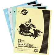 "Hilroy Canada Stitched Exercise Book, 10-7/8"" x 8-3/8"", Assorted, 4/Pack"
