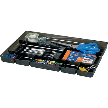 Drawer Tray 8-Compartment Organizer, Black