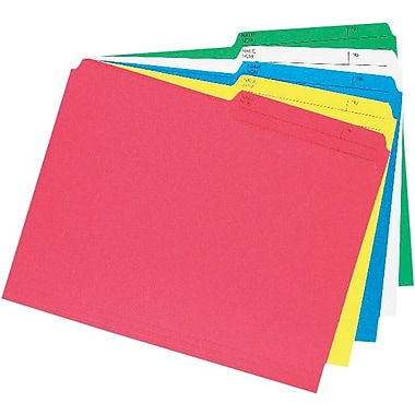 Staples® Coloured File Folder, Letter Size, 8-/12