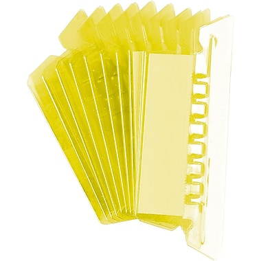 Oxford® - Onglets pour chemises suspendues, 2 po, jaune