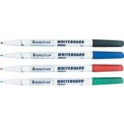 Staedtler® – Marqueurs à effacement sec Lumocolor, pointe moyenne, couleurs variées, paq./4