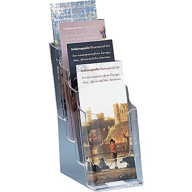 Staples® 4-Pocket Acrylic Leaflet Holder, Clear