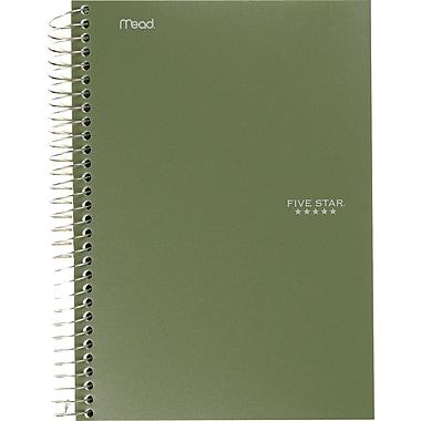Five Star® - Cahier à 5 sujets de qualité supérieure, 9-1/2 po x 6 po, variés, 360 pages