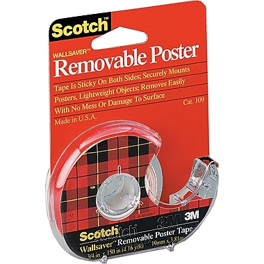 Scotch™ - Ruban Wallsaver à double face amovible, 18 mm x 3,81 m