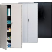 "Staples® 72"" Locking Steel Storage Cabinets"