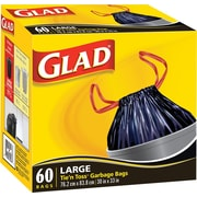 Glad® Tie'n Toss® Garbage Bags, Large, 60/Pack (70185-4)