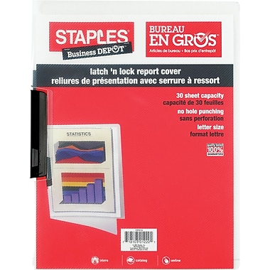Staples® Latch 'n Lock Poly Report Cover