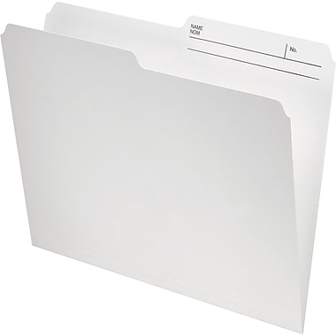 Staples® Recycled File Folder, 1/2-Cut, Letter Size, 10-1/2 pt., Ivory