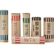 Staples® – Rouleaux en papier pour pièces de monnaie, paq./36
