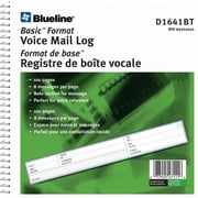 "Blueline Voice Mail Log Book, 8-7/16"" x 8-1/4"", 800 Messages, Bilingual"