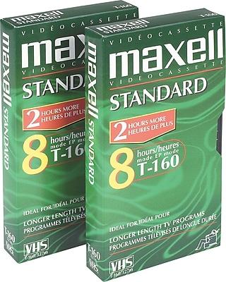 Maxell Standard Grade VHS Video Cassette, 160 Minutes, 3/Pack
