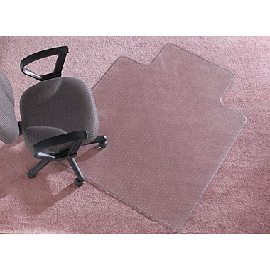 Staples® Plush-Carpet Chairmat, Traditional, 45