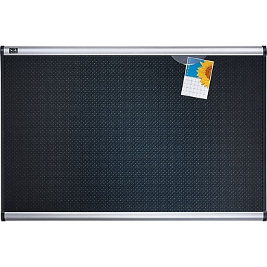 Quartet® - Tableau d'affichage noir en mousse gaufrée Prestige, 48 po x 72 po