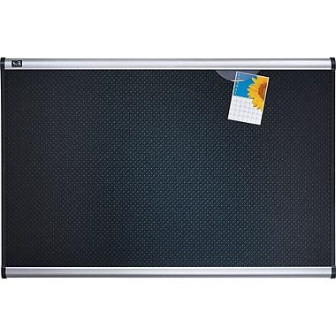 Quartet® Prestige® Black Embossed Foam Bulletin Boards, Aluminum Frame