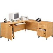 Bush® – Bureau en L de la collection Somerset, 71 po, fini érable croix