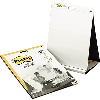 Post-it® Tabletop Easel Pad with Stand, 20