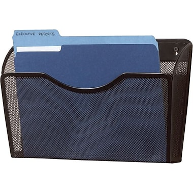 Rolodex™ Metal Mesh Letter Wall File, Black