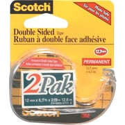 Scotch™ Double-Sided Transparent Tape, 2/Pack