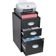 Situations 3-Drawer File and Storage Cabinet, Black