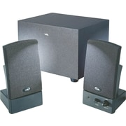 Cyber Acoustics CA-3001, 3-Piece Subwoofer Speaker System, Black
