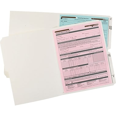 Pendaflex® Recycled Slimtrim™ Double-Top File Folders with # 1 Fastener Position, 1/2-Cut, Ivory