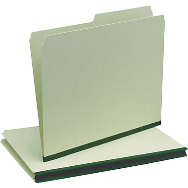 Oxford® Recycled Pressboard Folders, Green