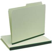 Oxford® Recycled Pressboard Folders, Green