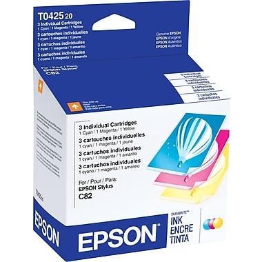 Epson 42 Color C/M/Y Ink Cartridges (T042520), Combo 3/Pack