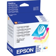 Epson 42 Color C/M/Y Ink Cartridges (T042520), Combo 3/Pack