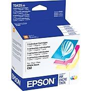 Epson T042 Cyan/Magenta/Yellow Standard Yield Ink Cartridge, 3/Pack