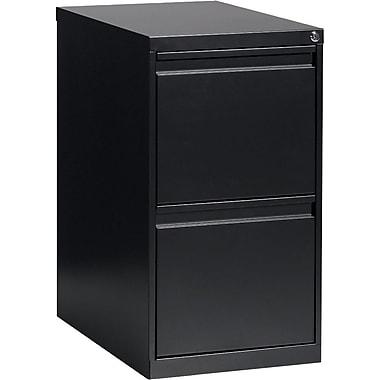 Global® - Caisson classeur, 2 tiroirs, noir