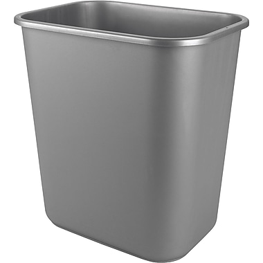 Staples® 38.5 L Wastebasket, Grey