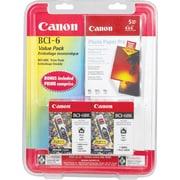 Canon® – Réservoirs d'encre noire BCI-6Bk, paquet double (4705A020)