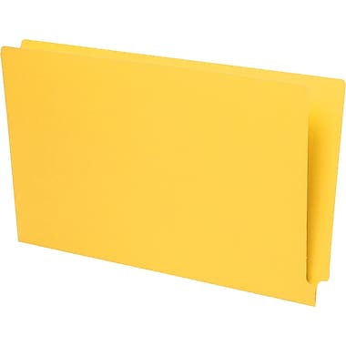 Pendaflex® Reinforced Coloured End-Tab File Folders, Legal Size, Yellow
