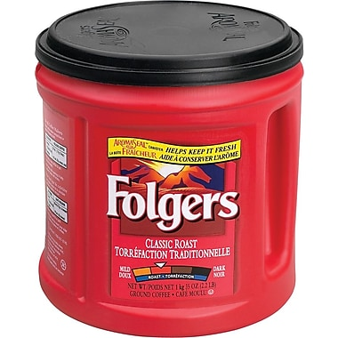 Folgers Ground Coffee, Classic Roast, 920g