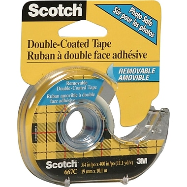 Scotch™ - Ruban adhésif amovible à double face, transparent