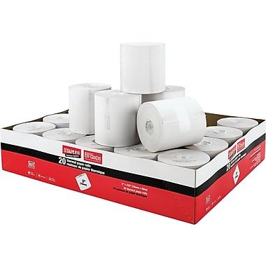 Staples® - Rouleaux de papier thermique, 3 po x 225 pi, paq./20